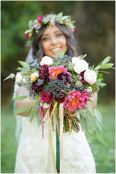 colorful wedding bouquet // photo by Sean Lara Photography