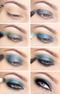 Katy Perry blue makeup style