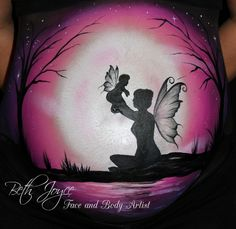 Fairy Belly Painting. Julie Fain Inspired. Baby Fairy. Fairy Silhouette. Love this one so much!