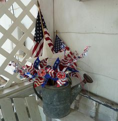 4th of July Watering Can by MissConduct*, via Flickr