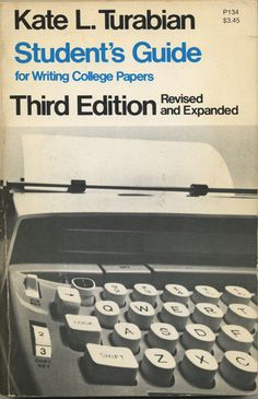 Student's guide for writing college papers - bookcover, 1976
