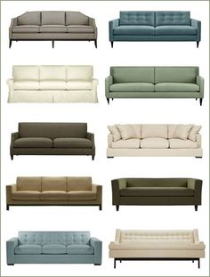 Which couch are you? Something more traditional, contemporary or modern? I reside to more modern clean lines containing a nice contemporary edge!