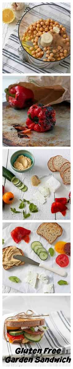 Gluten Free Garden Sandwich with Hummus, Vegetables, and Feta | Udi's Gluten Free