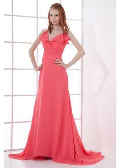 long v neck evening dresses