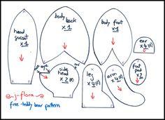 Teddy bear pattern | Teddy bear sewing pattern by ~j-flora on deviantART