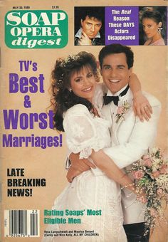classicsodcovers:  Classic SOD Cover Date: May 30, 1989 Rosa Langschwadt & Maurice Benard (Cecily & Nico, ALL MY CHILDREN)