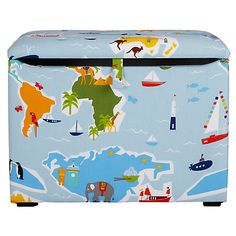 Buy little home at John Lewis Globe Trotter Fabric Toy Box from our Boxes & Baskets range at John Lewis & Partners. Boxing Online, Fabric Toys, Trotter, Box With Lid, Toy Boxes, Little Houses, John Lewis, Toy Chest, Cleaning Wipes