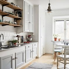 Brilliant Uses For Norden Gateleg Table That Will Surprise You Grey Kitchen Cabinets, Old Kitchen, Kitchen Dining, Kitchen Decor, Kitchen White, Kitchen Things, Country Kitchen, Norden Gateleg Table, Compact Living