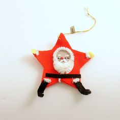 Vintage Christmas Ornament Santa Ornament Santa Claus Christmas Decoration by efinegifts on Etsy