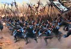 Ancient Chinese halberdiers advancing during the Warring States Period, Ancient China Fantasy World, Fantasy Art, Chinese Armor, Warring States Period, Dynasty Warriors, Illustration Art, Illustrations, China Art, Historical Art