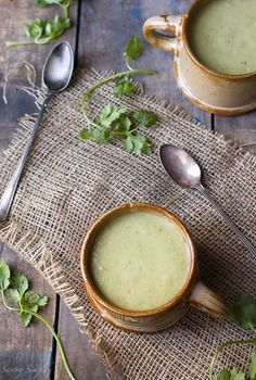 This chilled tomatillo avocado soup is a refreshing summer meal that's easy to prepare.