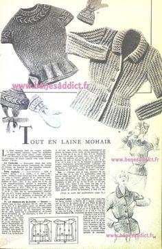 Vintage Patterns, Knitting Patterns, Sewing Patterns, Vintage Knitting, Retro, Fantasy, Appliques, Blue Prints, Tricot Facile