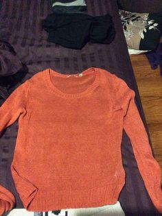 Orange mesh sweater