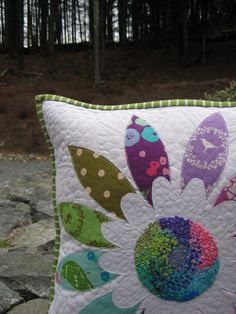 Beautiful pillow--love the french knots