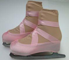 Ballet Slipper Skate Boot Covers / Figure Skating by Sk8Gr8Designs