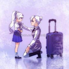 Found on iFunny Dc Anime, Anime Art, Manga Girl, Rwby Winter, Rwby White Rose, Rwby Weiss, Anime Bebe, Rwby Volume, Rwby Red
