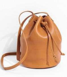 Article& Leather Drawstring Bag