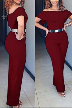 SPECIFICATIONS: ProductName Casual Sexy Off Shoulder Jumpsuit Brand Joygos Color Black/Blue/Claret_red SKU Gender Women Style Elegant/Sexy/Fashion Type Jumpsuit Occasion Party/Vacation/DailyLife Material Polyester Sleeve ShortSleeves Decoration SolidColor Long Sleeve Romper, Maxi Dress With Sleeves, Midi Skater Dress, Prom Dress, Off Shoulder Jumpsuit, Casual Jumpsuit, Jumpsuits For Women, Types Of Fashion Styles, Fashion Outfits