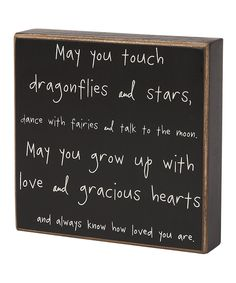 'Dragonflies and Stars' Box Sign | Daily deals for moms, babies and kids