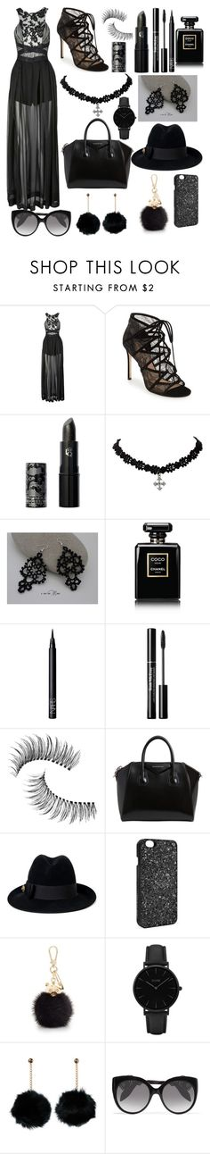 """""""Luscious Lace"""" by juicypiggy ❤ liked on Polyvore featuring Three Floor, Pour La Victoire, Lipstick Queen, Chanel, NARS Cosmetics, Trish McEvoy, Givenchy, Gucci, Victoria's Secret and Furla"""