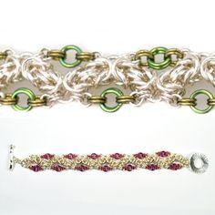 DIY Jewelry Chainmaille Kits Tutorials | Ringed Zig Zag Byzantine - Project | Blue Buddha Boutique