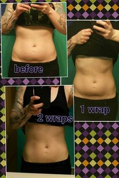Amazing results using 2 body wraps from It Works! A box of 4 wraps is just $59 as a Loyal Customer. For more info or to order visit our website. http://www.theultimatecrazywrap.com/ultimate-body-applicator.html