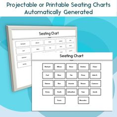 Classroom Seating Chart Attendance Grade Sheet  Behavior