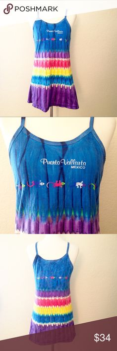 90 s Vintage Tie Dye Gecko Dress True vintage from the 1990 s. Awesome  vibrant tie dye 3948fd990