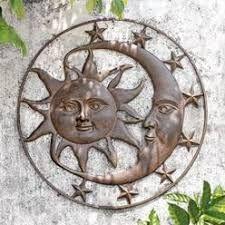 Image Result For Metal Enamel Sun Moon Wall Art Moon Wall Art