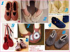 """Patrones para Crochet: 8 Patrones de Crochet Zapatillas """"Dulces Sueños"""" - free charts!!!"""