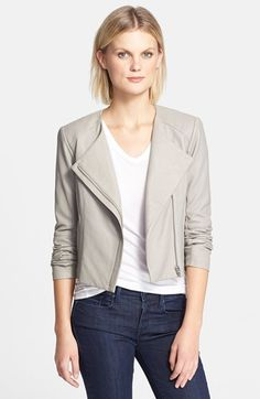 VEDA 'Dali' Leather Jacket in smoke available at #Nordstrom