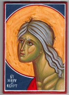 Mary of Egypt St Mary Of Egypt, Byzantine Icons, Orthodox Christianity, Saint, Painting, Painting Art, Paintings, Painted Canvas
