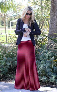 lipödem mode lymphödem lipoedem lymphoedem chic moodboard plus size hose style Maxi Skirt Outfits, Striped Maxi Skirts, Modest Outfits, Dress Skirt, Swag Dress, Stripe Skirt, Maxi Dresses, Dress Shoes, Style Outfits