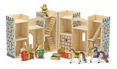 Melissa & Doug Children's Fold & Go Castle - a simple but great wooden toy.