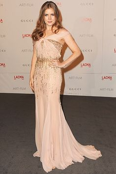 Amy Adams in Gucci gown at the Art + Film Gala. She looks like a goddess!