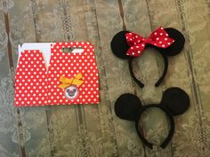 Goodie boxes and Mickey & Minnie Ears for each child