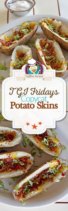 You can recreate the famous TGI Friday's Potato Skins at home with this easy copycat recipe.