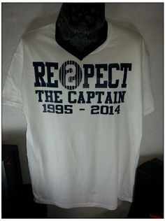 Men's New White Derek Jeter Retirement New York Yankees Captain Re2pect T Shirt  #Handmade #GraphicTee