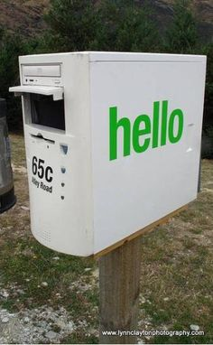 Mailboxes from an old computer tower. This is pretty cool and funny. #Recycle
