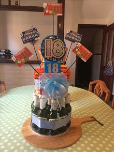 18th Birthday Beer Cake I Made This For My Sons The Bottom Layer Is And Top A Range Of His Favourite Things To Eat