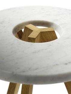 Low marble coffee table treeO treeO Collection by TEAM 7 Natürlich Wohnen | design Jacob Strobel, Sebastian Desch, Stefan Radinger