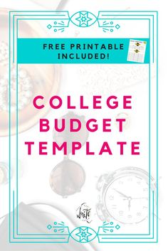 198 best printables for college organizational budget art decor