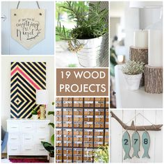 19 DIY Wood Projects!! If you love working with wood, you'll love these great ideas! -- Tatertots and Jello