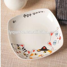 Кот белый дизайн керамическая фарфор квадратной пластины-изображение-Блюдца и тарелки-ID товара::60413323256-russian.alibaba.com