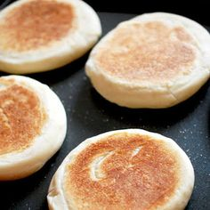 Homemade English muffins.