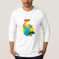 Plasterer Masonry Trowel WPA T Shirt. WPA style illustration of a plasterer masonry tradesman construction worker with trowel viewed from the front set inside circle. #illustration #PlastererMasonryTrowel