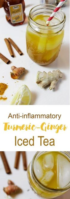Anti-inflammatory Turmeric Ginger Iced Tea