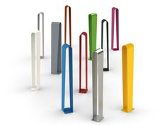 STEEL BICYCLE RACK / BOLLARD VIC BY CITYSI | DESIGN GIBILLERO