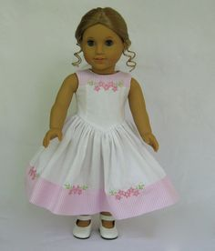 Reserved American Girl Doll Clothes Summer Celebration Dress
