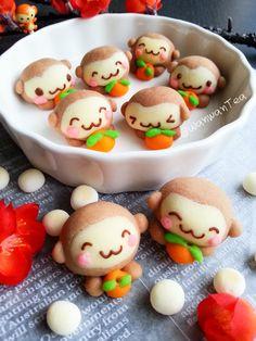 Little Monkey German Cookies Kawaii Cookies, Cute Cookies, Pineapple Cookies, Cartoon Cookie, German Cookies, Kawaii Dessert, Bento Recipes, Cute Desserts, Asian Desserts